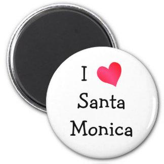 Amo Santa Mónica Imán Redondo 5 Cm