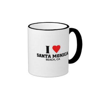 Amo Santa Mónica Taza De Dos Colores