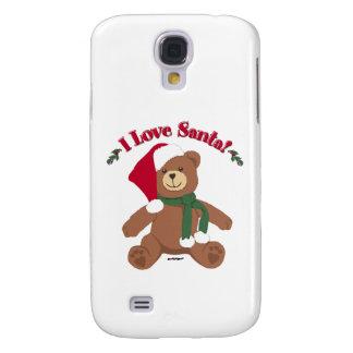 ¡Amo Santa! Oso de peluche del navidad Funda Para Galaxy S4