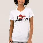Amo santa y navidad camiseta