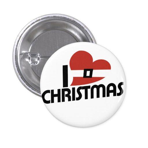 Amo santa y navidad pins