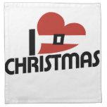 Amo santa y navidad servilletas