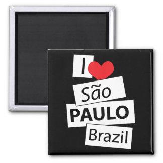 Amo Sao Paulo el Brasil Imán Cuadrado