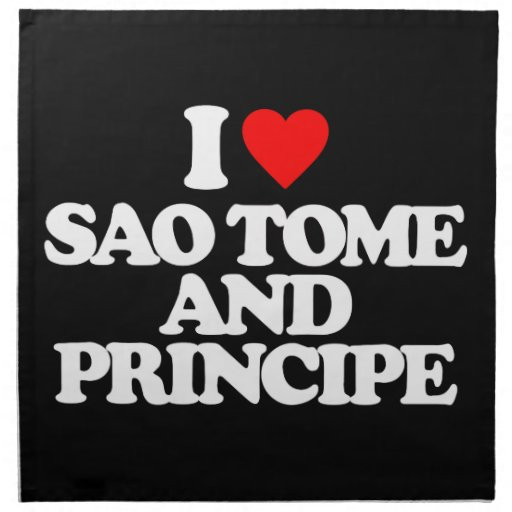 AMO SAO TOME AND PRINCIPE SERVILLETA IMPRIMIDA