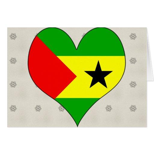 Amo Sao Tome and Principe Tarjeta De Felicitación