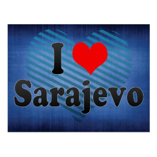Amo Sarajevo, Bosnia y Herzegovina Postales