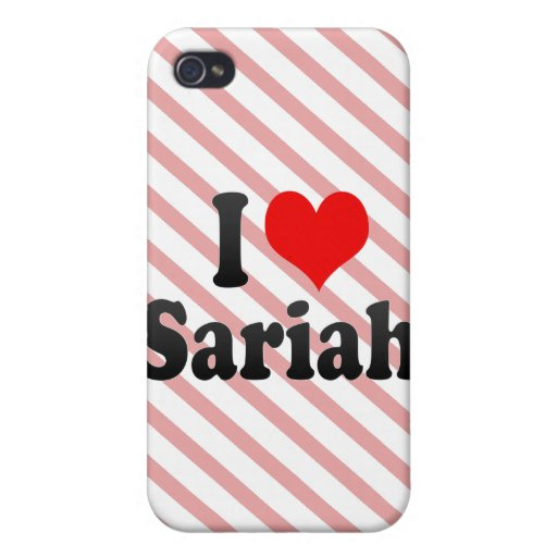 Amo Sariah iPhone 4/4S Fundas