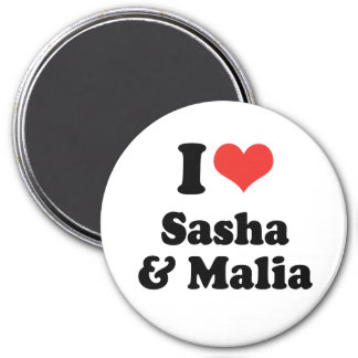 AMO SASHA Y MALIA - .PNG IMANES PARA FRIGORÍFICOS