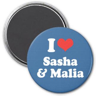 AMO SASHA Y MALIA - .PNG IMAN DE NEVERA