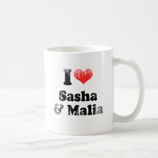 AMO SASHA Y MALIA.png Taza De Café
