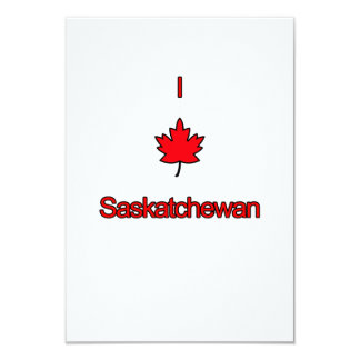 "Amo Saskatchewan Invitación 3.5"" X 5"""