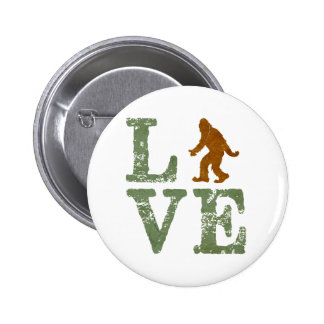 Amo Sasquatch Pin Redondo De 2 Pulgadas