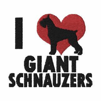 Amo Schnauzers gigantes bordé la manga larga