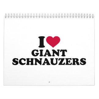 Amo Schnauzers gigantes Calendarios