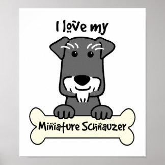 Amo Schnauzers miniatura Poster