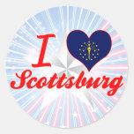 Amo Scottsburg, Indiana Etiqueta Redonda