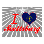 Amo Scottsburg, Indiana Tarjetas Postales