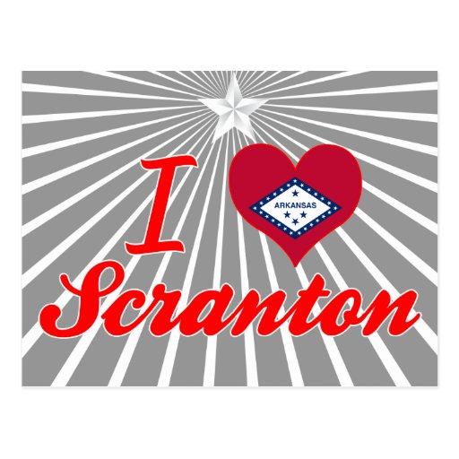 Amo Scranton, Arkansas Tarjeta Postal