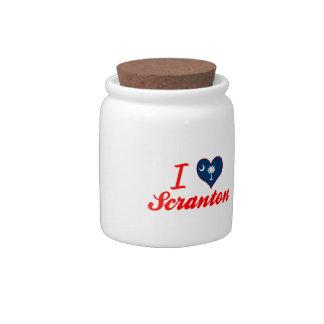 Amo Scranton, Carolina del Sur Jarras Para Caramelos