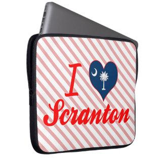 Amo Scranton, Carolina del Sur Mangas Computadora