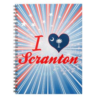 Amo Scranton, Carolina del Sur Libros De Apuntes
