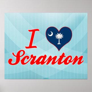 Amo Scranton, Carolina del Sur Posters