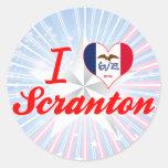 Amo Scranton, Iowa Etiqueta Redonda