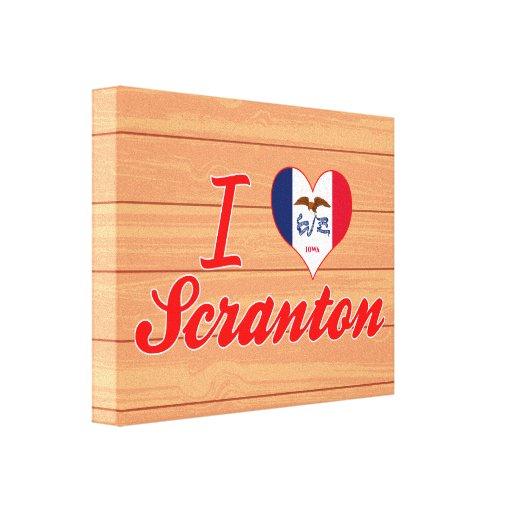 Amo Scranton, Iowa Impresiones En Lona