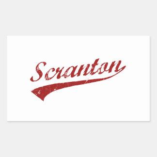 Amo Scranton Pennsylvania Pegatina Rectangular