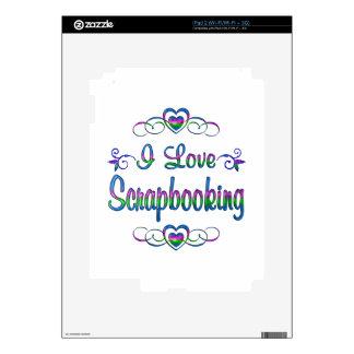 Amo Scrapbooking Calcomanías Para El iPad 2