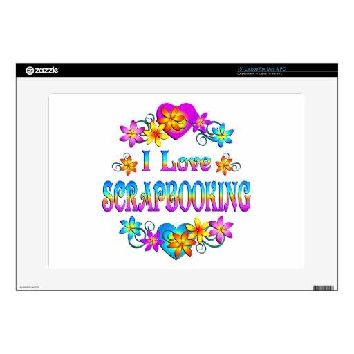 Amo Scrapbooking Calcomanías Para Portátiles