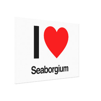 amo seaborgium lona envuelta para galerías
