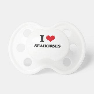 Amo Seahorses Chupetes