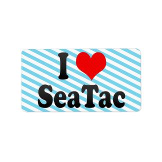 Amo SeaTac, Estados Unidos Etiqueta De Dirección