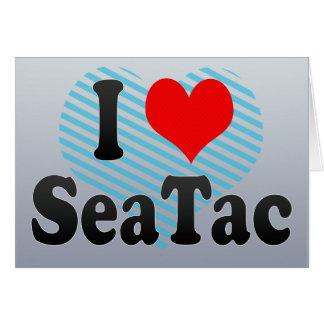 Amo SeaTac, Estados Unidos Tarjeta De Felicitación