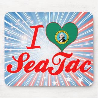 Amo SeaTac, Washington Alfombrillas De Ratones