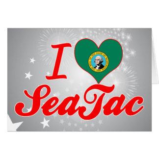 Amo SeaTac, Washington Tarjeta De Felicitación