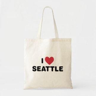 Amo Seattle Bolsa Tela Barata