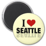 Amo Seattle Imán Para Frigorífico