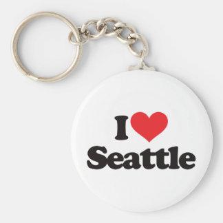 Amo Seattle Llavero Redondo Tipo Pin