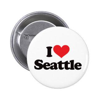 Amo Seattle Pin Redondo De 2 Pulgadas