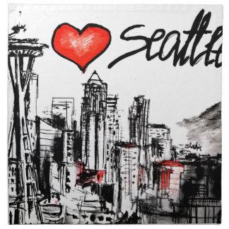Amo Seattle Servilletas De Papel