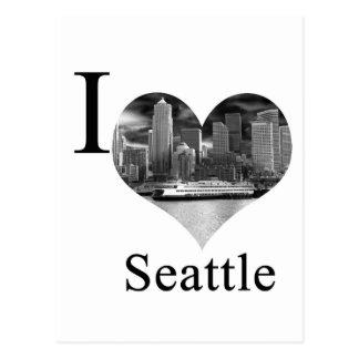 Amo Seattle Tarjetas Postales