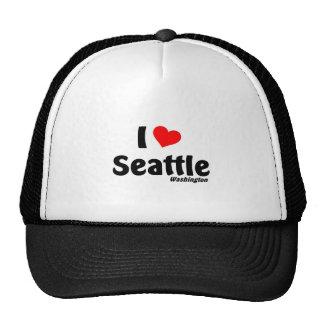 Amo Seattle Washington Gorro De Camionero