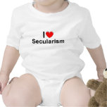 Amo secularismo (del corazón) trajes de bebé
