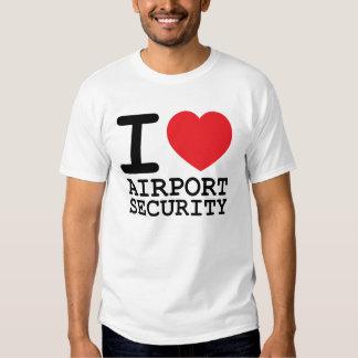 Amo seguridad aeroportuaria playeras