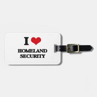 Amo seguridad de patria etiquetas maleta