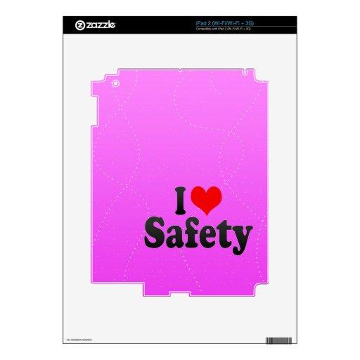 Amo seguridad iPad 2 calcomanías