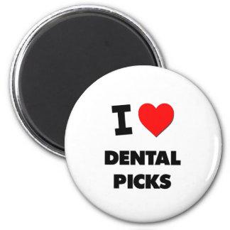 Amo selecciones dentales imán para frigorífico