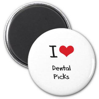 Amo selecciones dentales imanes para frigoríficos